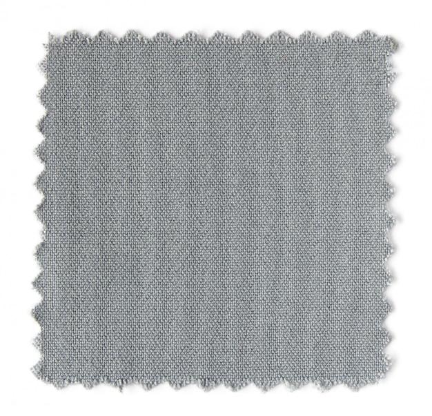 白い背景に灰色の布の見本のサンプル
