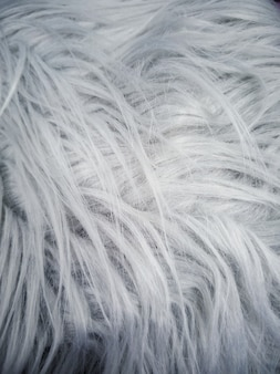 Gray faux fur with a large pile.