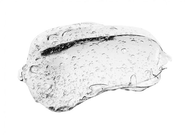 Серый гель-крем косметический пузырь на белом