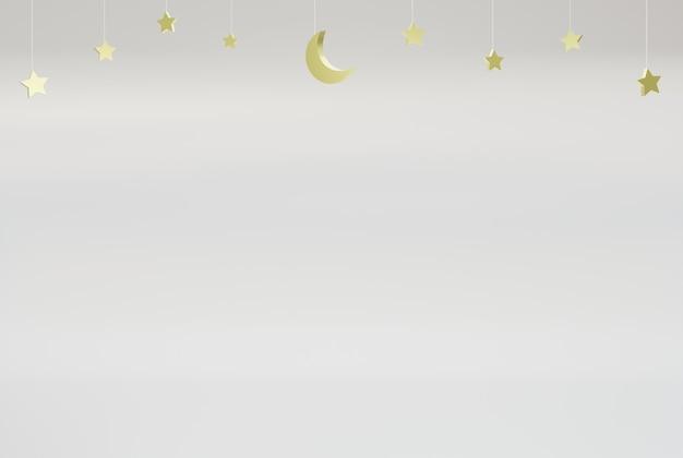 Серый исламский фон для плаката, флаера, баннера и т. д. 3d визуализации иллюстрации