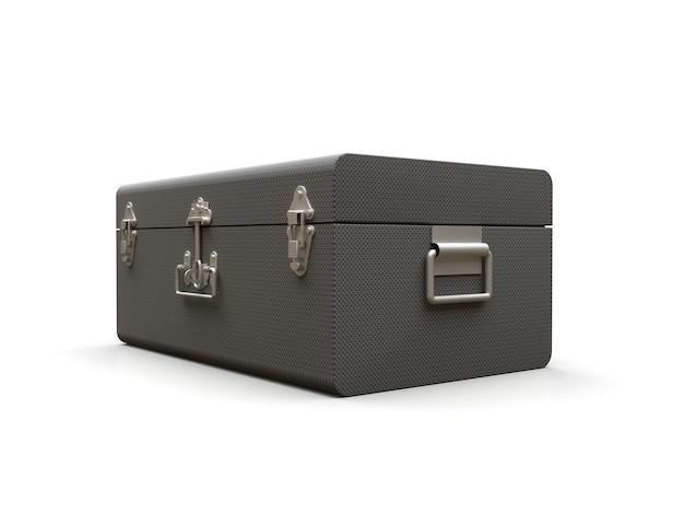絶妙な留め金が付いた灰色の革のスーツケース何世紀にもわたる伝統を持つクラシックなプレミアムデザイン
