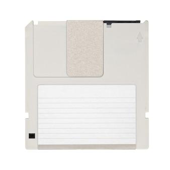 グレーの光磁気ドライブ ディスクまたはディスケットの分離