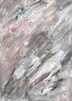 Серый мраморный холст абстрактная живопись фон с золотой, бронзовой текстурой.