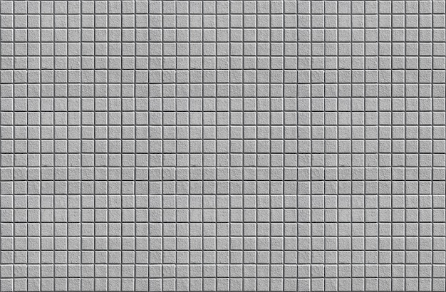 Gray masonry square cement brick tile surface texture design wall background.