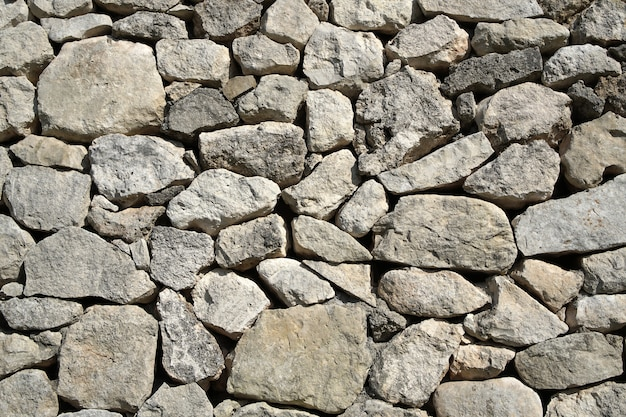 Gray old stone wall decor
