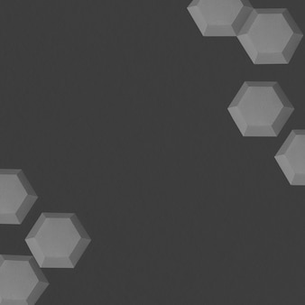 Gray paper craft hexagon patterned background