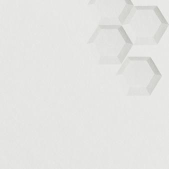 Серый бумажный ремесло шестиугольник с рисунком фона