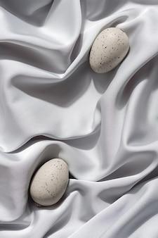 회색 파스텔 장식 부활절 달걀