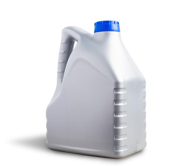 Серая пластиковая бутылка 4 литра галлона смазочного масла машины канистры
