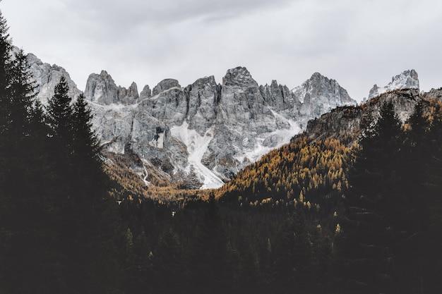 Grey rocky mountain