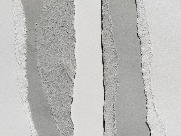 Gray shreds of paper