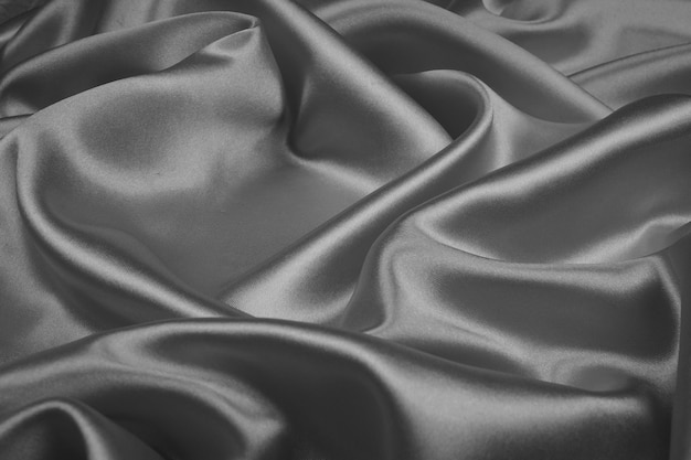 Gray silk texture luxurious satin for abstract background