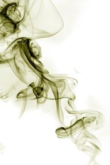 Серый дым на белом фоне.