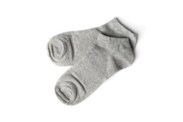 Серые носки, изолированные на белом фоне