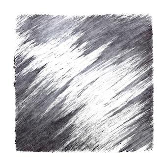 Серый квадрат с мазками кисти. абстрактный фон. нарисованная рукой растровая иллюстрация