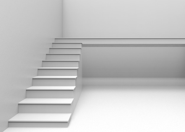 Gray staircase to next level concept