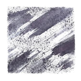 Серый узорчатый квадрат с разводами и мазками. абстрактный фон. растровая иллюстрация