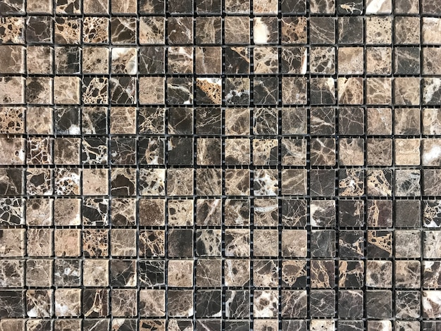Gray stone tile mosaic for decoration the bathroom and pool.