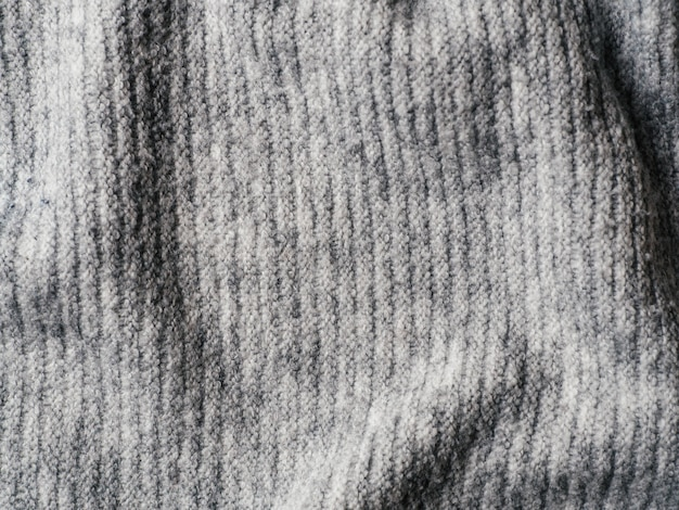 Gray sweater fabric texture background