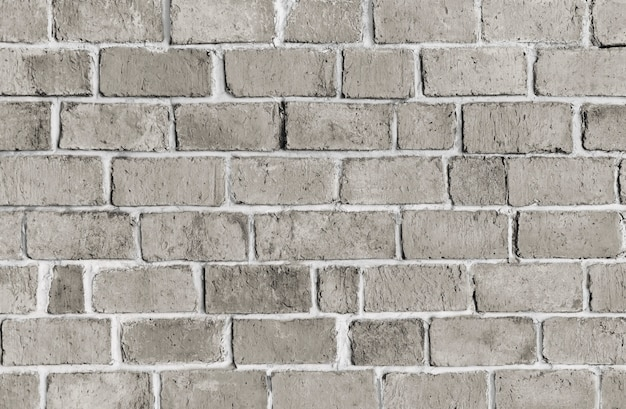 Gray textured brick wall background