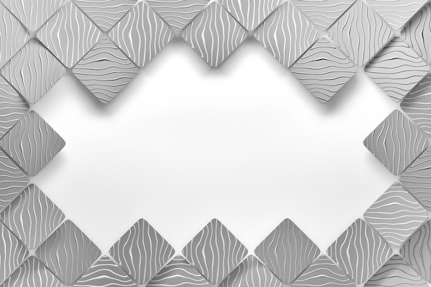 Gray tiles and copy blank space on white background