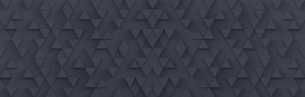 Gray triangle background. 3d rendering.