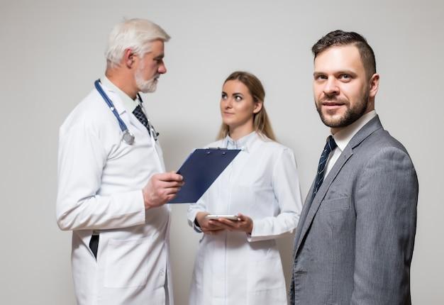 Gray visit closeup general doctor pressure