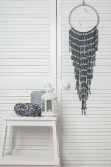 Gray white dream catcher