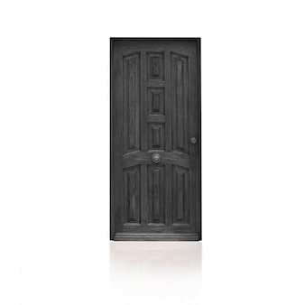 Gray wooden door
