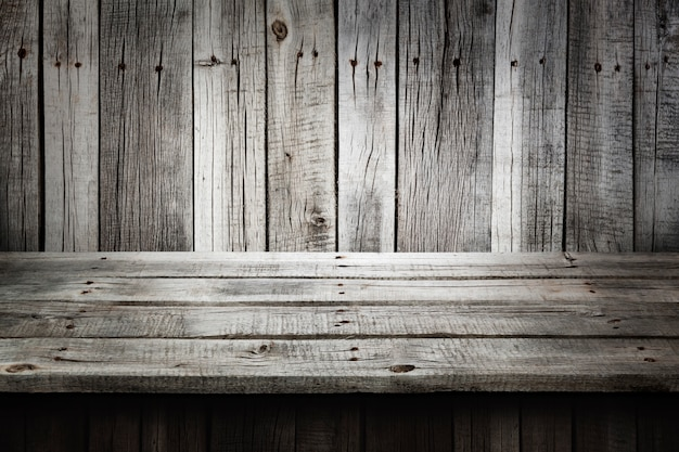 Gray wooden table background