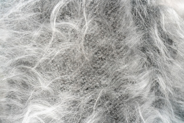 Gray wool. the texture of natural wool.