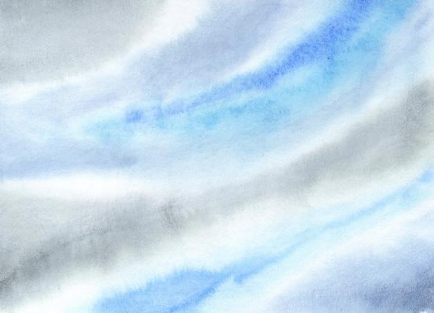 Серо-голубая мраморная текстура жидкая цветовая палитра гладкая цветная акварельная текстура для печати