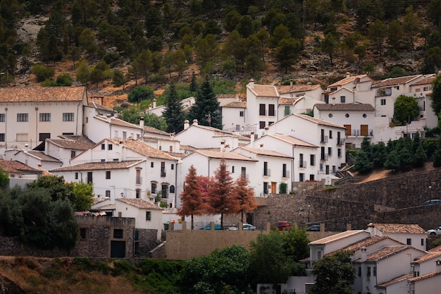 Grazalema one of the famous white towns from cadiz region at andalucia, spain.