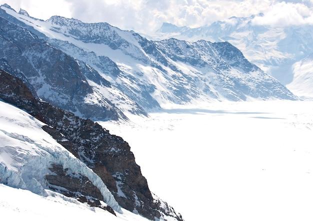 Great aletsch glacier switzerland