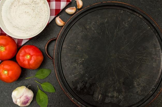 コピースペースのあるピザのような美食のテーマの素晴らしい背景