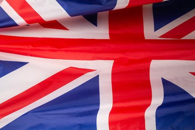 배경으로 영국 국기입니다. 평면도.