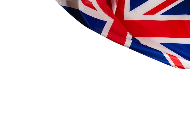 배경으로 영국 국기입니다. 평면도. 프리미엄 사진