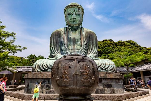 Great buddha statue of kotuku-in temple in kamakura, japan