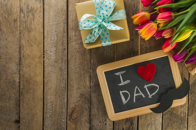 Great composition with objects for father's day