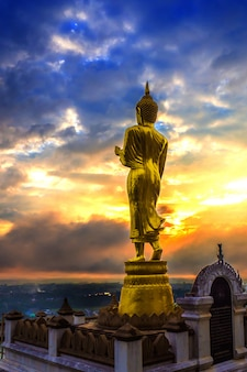 Great golden buddha statue