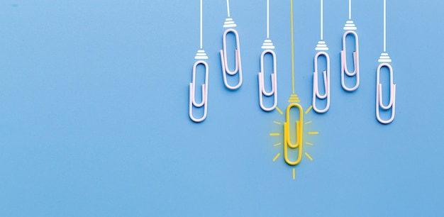 Great ideas concept with paperclip
