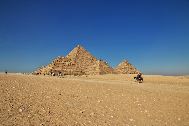 Great pyramids of ancient egypt in giza