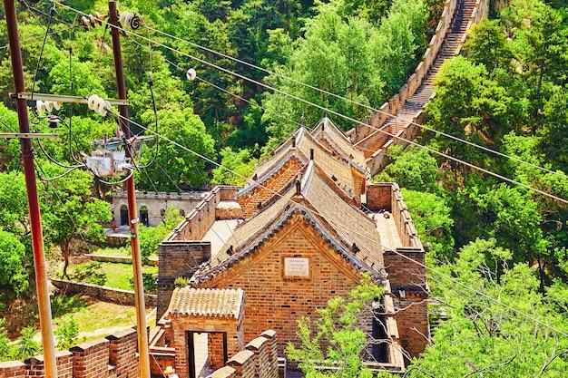 Великая китайская стена, участок «митяньюй». пригород пекина.