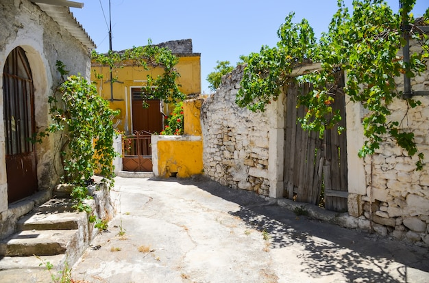 Greece abandoned picturesque streets crete