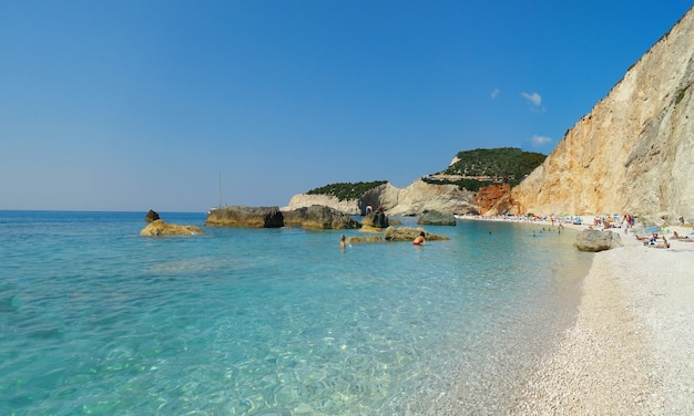 Greece lefkada porto katsiki beach summer landscape