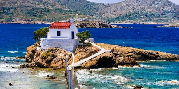 Greece leros island in dodecanese agios isidoros church
