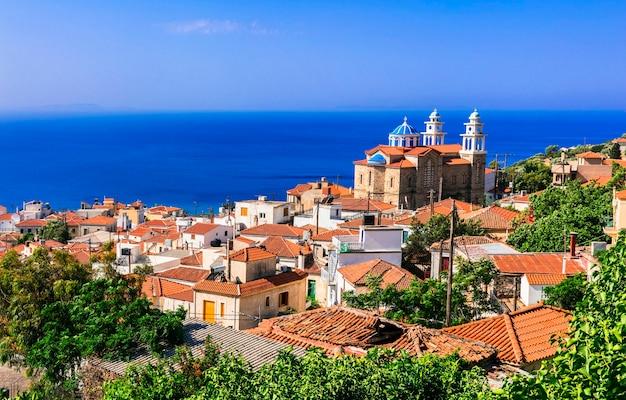 그리스. 사모 스 섬의 전통 마을