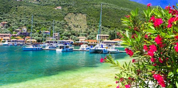 Greece travel picturesque sivota village beautiful ionian island lefkada