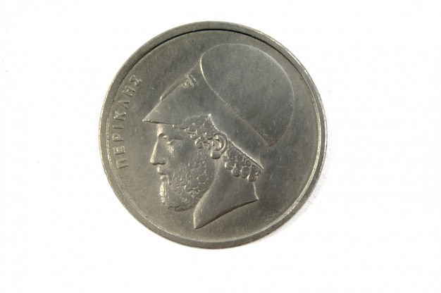 Greek drachma coin, 20 drachmas 1978
