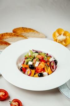 Greek salad on the table